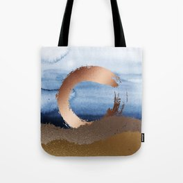 Inspiration: Gold, Copper And Blue Tote Bag