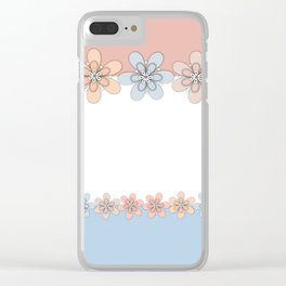 Flowers paper, cut paper Clear iPhone Case