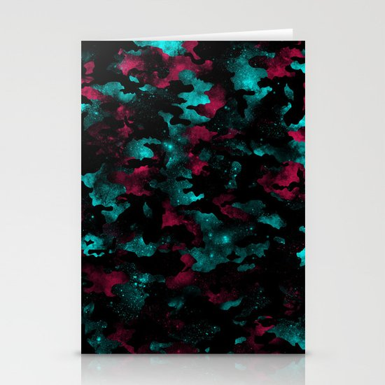 Galactic Camo Stationery Cards