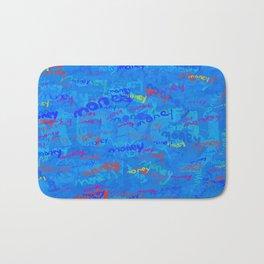 mostly blue money Bath Mat