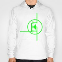 transistor Hoodies featuring N-TYPE MOSFET by EEShirts
