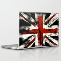 uk Laptop & iPad Skins featuring UK Flag by WonderfulDreamPicture