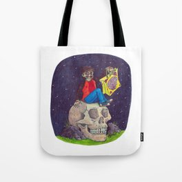 HALLOWEEN - Zombie-Boy with Skull  Tote Bag