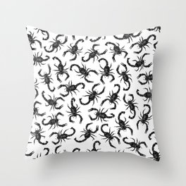 Scorpion Swarm Throw Pillow