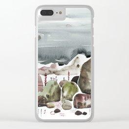 Sea stones Clear iPhone Case