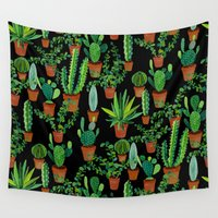 cacti Wall Tapestries featuring Cacti by Sian Keegan
