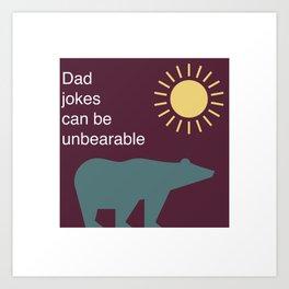 Purple Bear Jokes Art Print