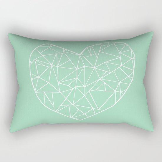 Abstract Heart Mint Rectangular Pillow