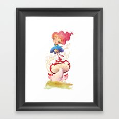 Girl and Shroom Framed Art Print