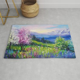 Spring in the Alps Rug