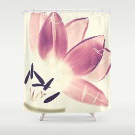 Cuddling Tulips - Botanical Print Shower Curtain