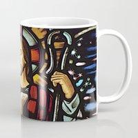 jesus Mugs featuring JESUS. by Aldo Couture