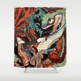 Ukiyo-e, Dragon Shower Curtain