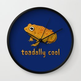 Toadally Cool Psychedelic Toad Wall Clock