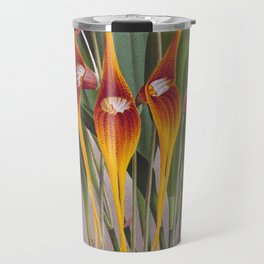 Masdevallia Macura Orange Vintage Long Stemmed Orchids Travel Mug
