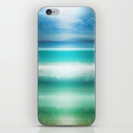 """Blue sky over teal sea South"" iPhone Skin"