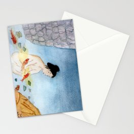 Bathing with the Kois Stationery Cards