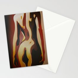Back View Of A Nude Woman Stationery Cards