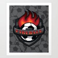 Team Fireball Art Print