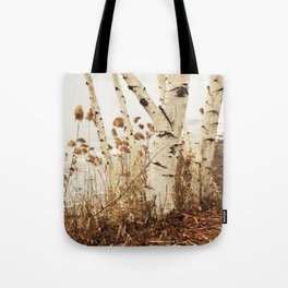 Autumn Birches by the Lake Tote Bag