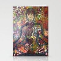 namaste Stationery Cards featuring Namaste by Tiffany Alcide