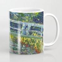 monet Mugs featuring Monet Interpretation by Britt Miller Art
