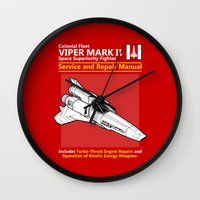 battlestar Wall Clocks featuring Viper Mark II Service and Repair Manual by adho1982
