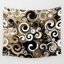 Coffee Swirls Wall Tapestry