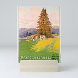 cartellone ste croix les rasses altitude 1150m cff cff sbb Mini Art Print