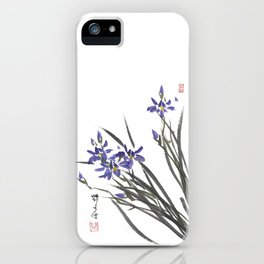 Blue Iris Orchid One iPhone Case