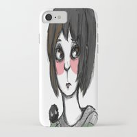 chihiro iPhone & iPod Cases featuring Chihiro, with a friend by Daytwah