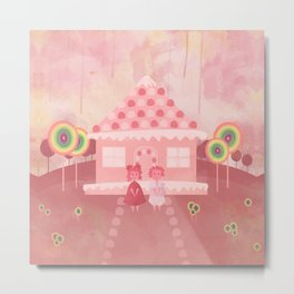 Candy Fields (Hansel & Gretel) Metal Print