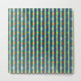 Stars pattern Metal Print