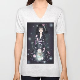 Kimono dollfie -  eyebright , skylight. Manga / Anime Unisex V-Neck