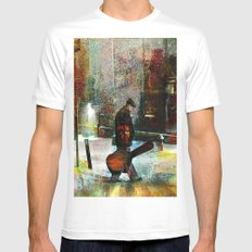 The guitarist Mens Fitted Tee MEDIUM White