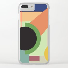 Abstract geometric composition study- Space Clear iPhone Case