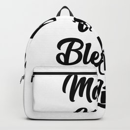 Mama Wife Blessed Life Mother's Day Gif Backpack