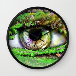 Natures Eye  Wall Clock