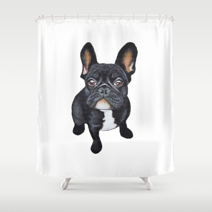 French Bulldog Shower Curtain By Papertigress