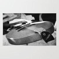 banjo Area & Throw Rugs featuring Banjo by KimberosePhotography