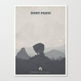 The Hitchhiker's Guide to the Galaxy - minimal poster Canvas Print