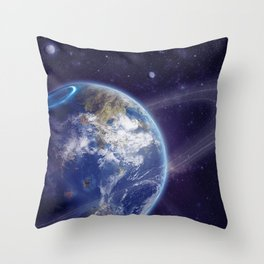 Another Earth Throw Pillow