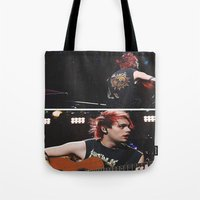 5 seconds of summer Tote Bags featuring 5 Seconds of Summer - Michael by Fan_Girl_Designs