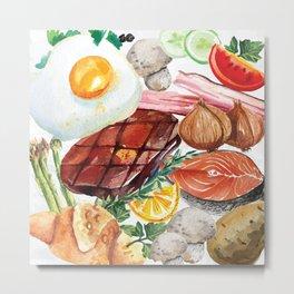 Painted Food Metal Print