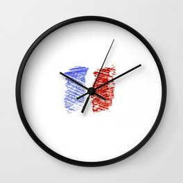 Flag of France 12- France, Français,française, French,romantic,love,gastronomy Wall Clock