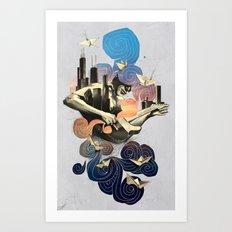 Lake and Sky Art Print