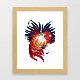 Fighting Cock Framed Art Print