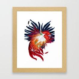 Fighting Cock Framed Art Print