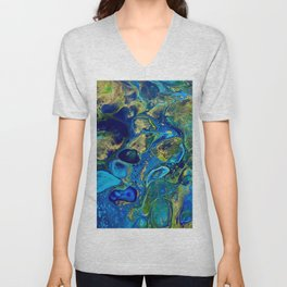 Ocean Jewel Abstract Unisex V-Neck