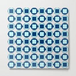 Candy Sweet Blues Pattern Metal Print